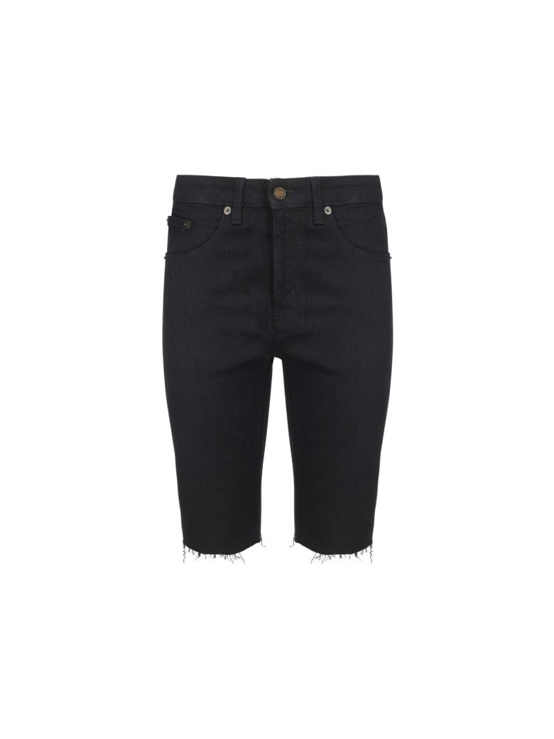 Saint Laurent Denim Shorts - Used black