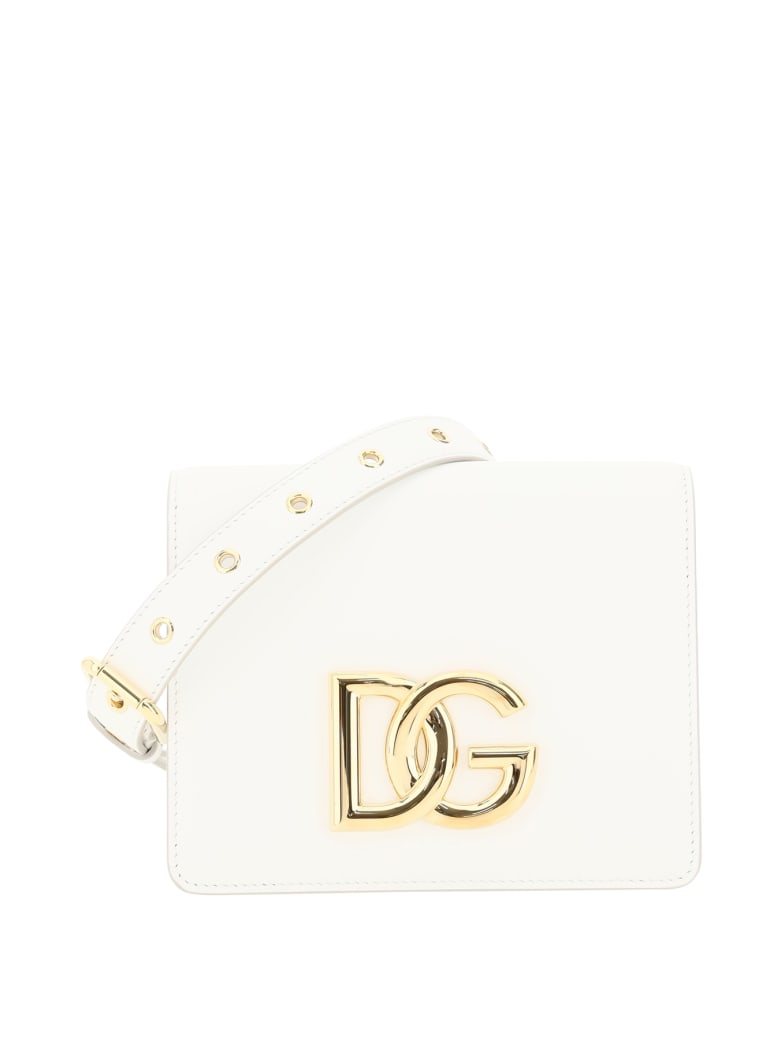 Dolce & Gabbana Crossbody Bag With Logo - Bianco