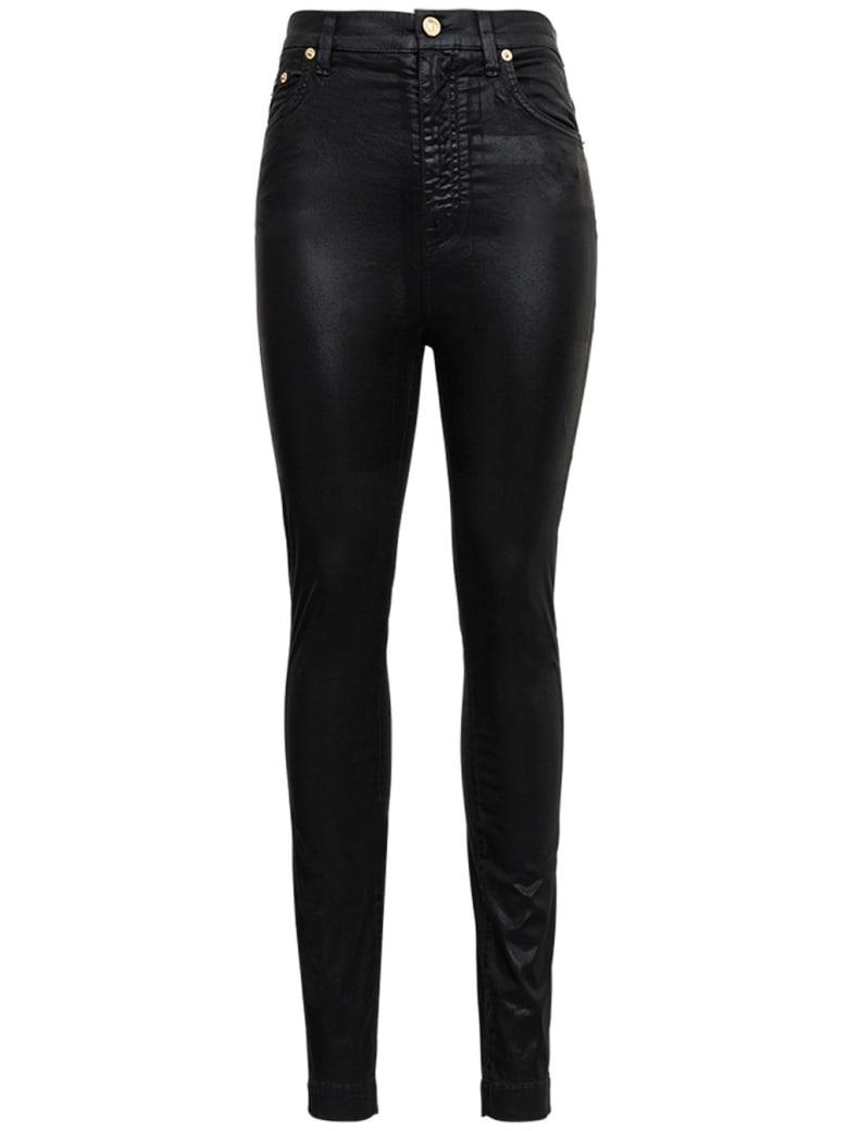 Dolce & Gabbana Black Jeans In Laminated Denim - Black
