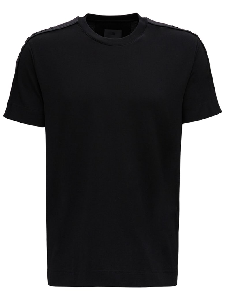 Givenchy Black Jersey T-shirt With Logo - Black