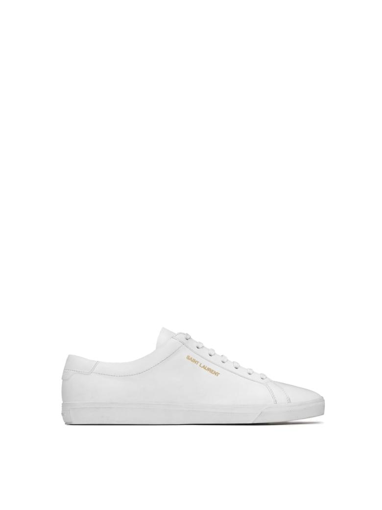 Saint Laurent Andy Low Top Sl Sneakers - Blanc Optique