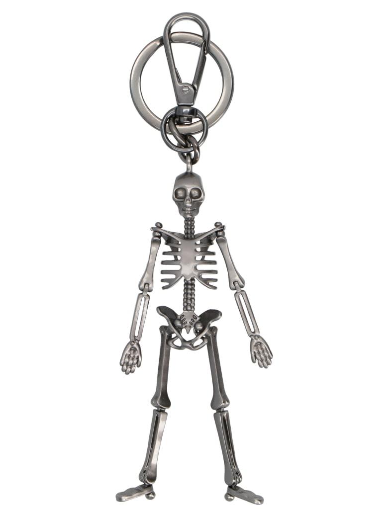 Alexander McQueen 'skeleton' Keyring - Silver