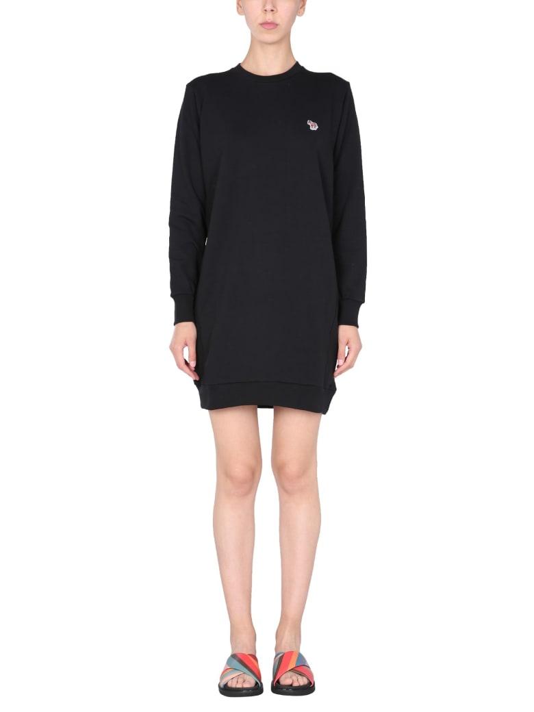 PS by Paul Smith Zebra Cotton Dress - NERO