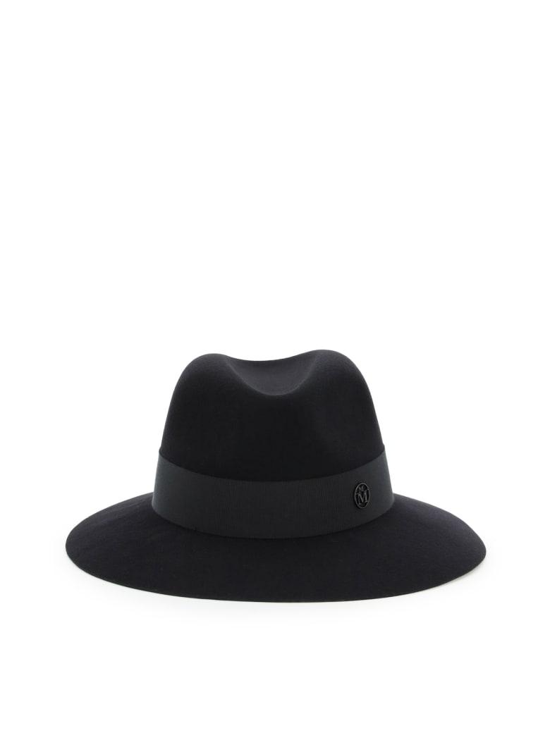 Maison Michel Henrietta Felt Fedora Hat - BLACK (Black)