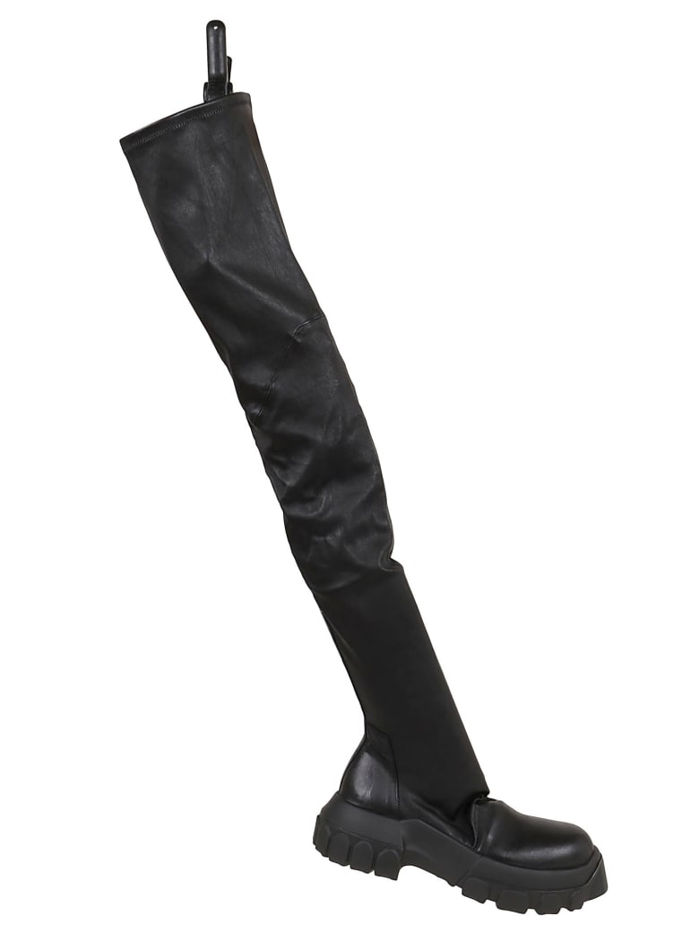 Rick Owens Leather Boots - Black