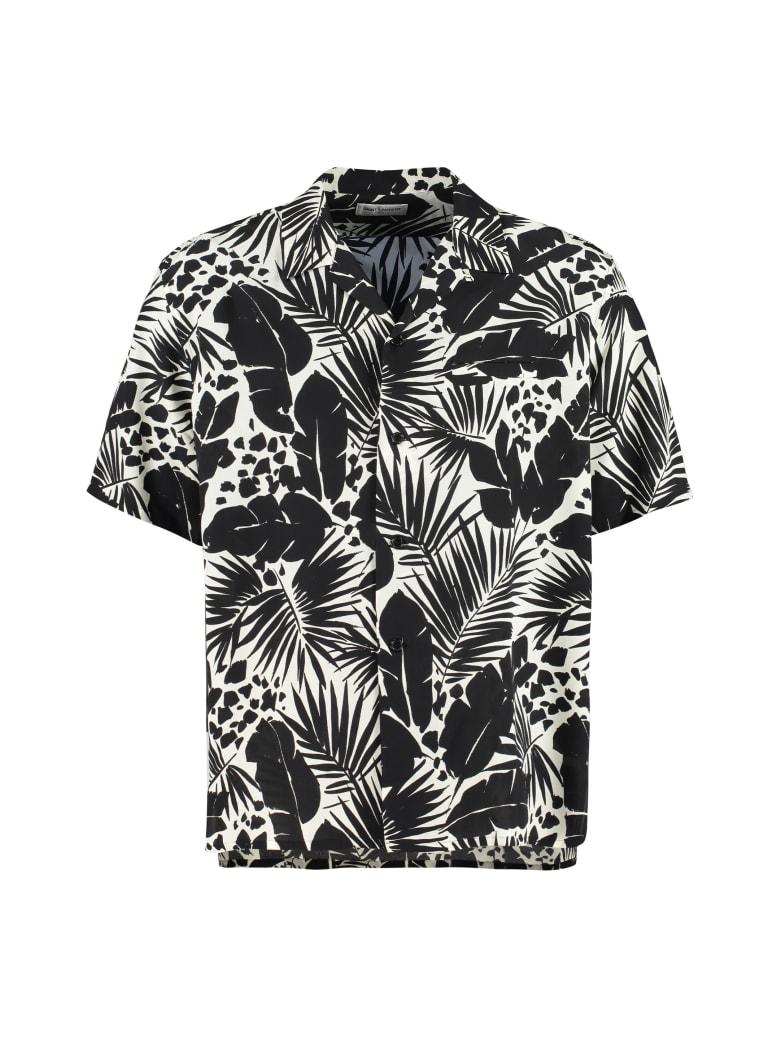 Saint Laurent Printed Silk Shirt - Gesso/Nero