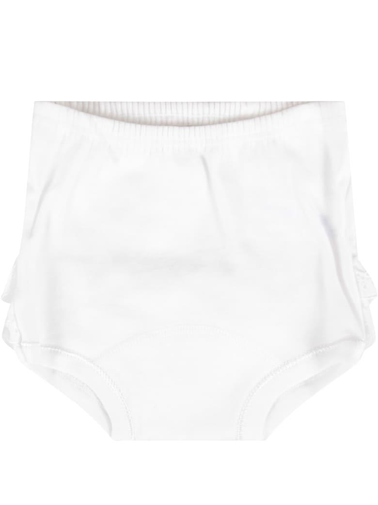 Absorba White Set For Baby Girl - White
