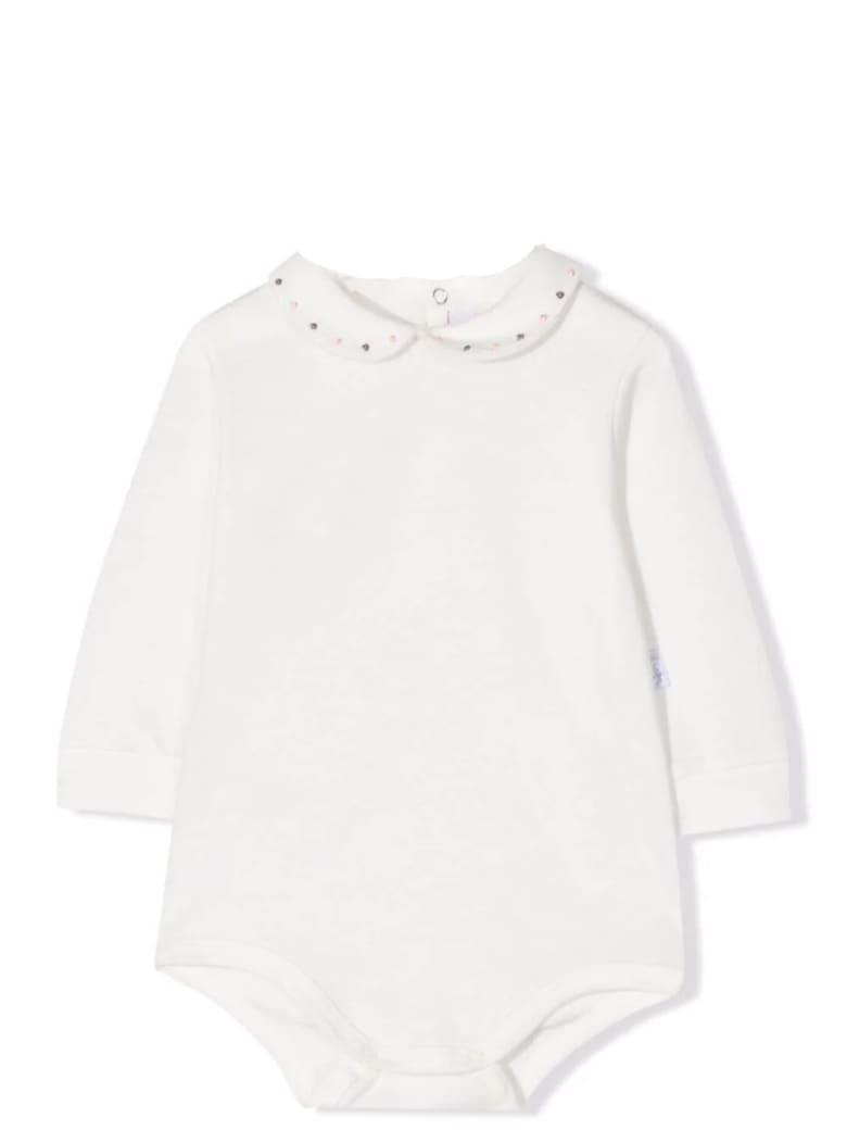 Il Gufo Bodysuit With Long Sleeves - Bianco-rosa