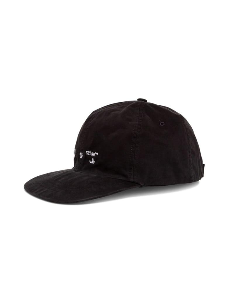Off-White Ow Logo Baseball Cap In Black Canvas - Black