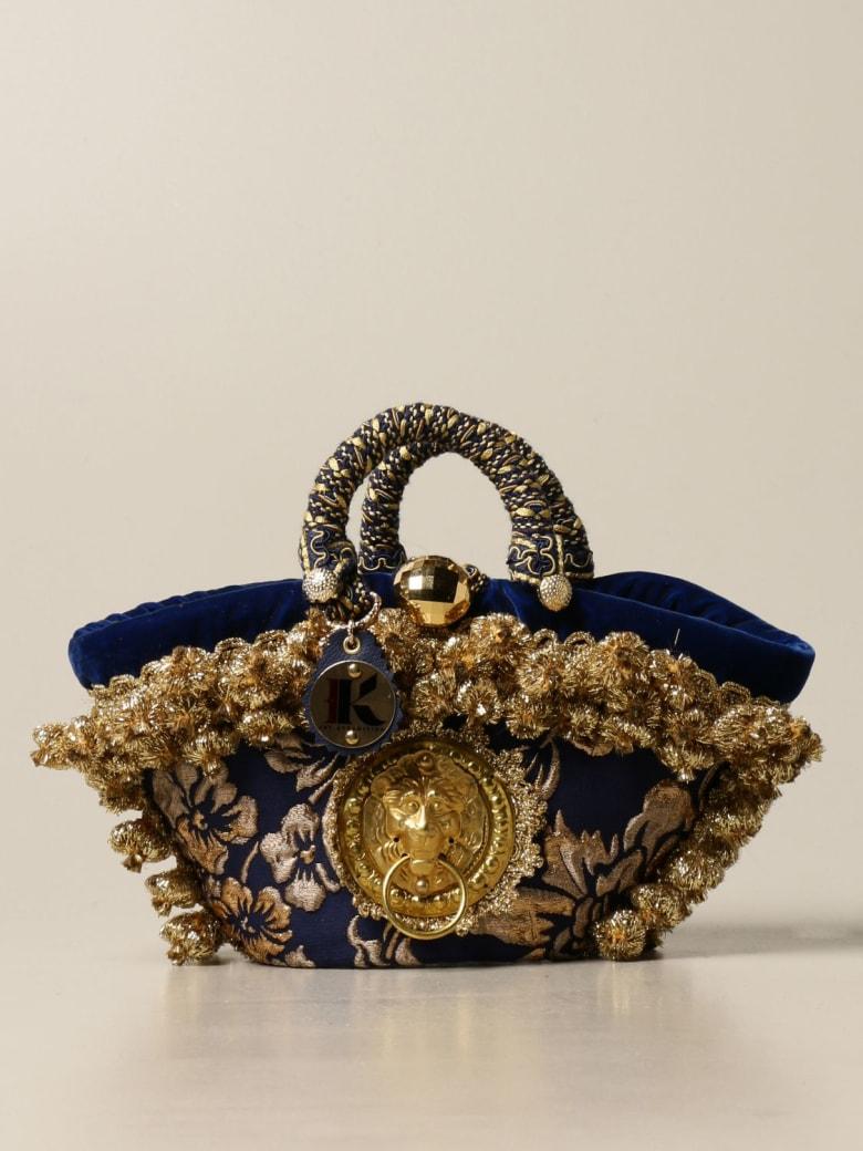Sikuly Handbag Damask P. Sikuly Coffa Bag With Lurex Embroidery - Multicolor