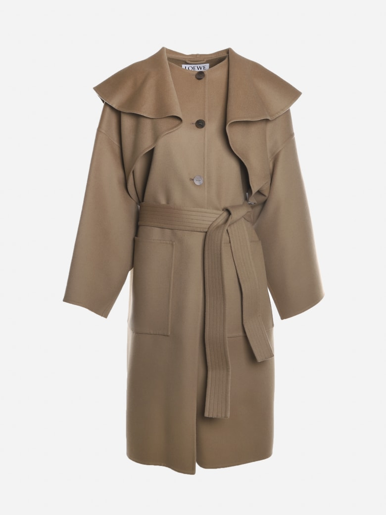 Loewe Coat Made Of Wool And Cashmere - Camel