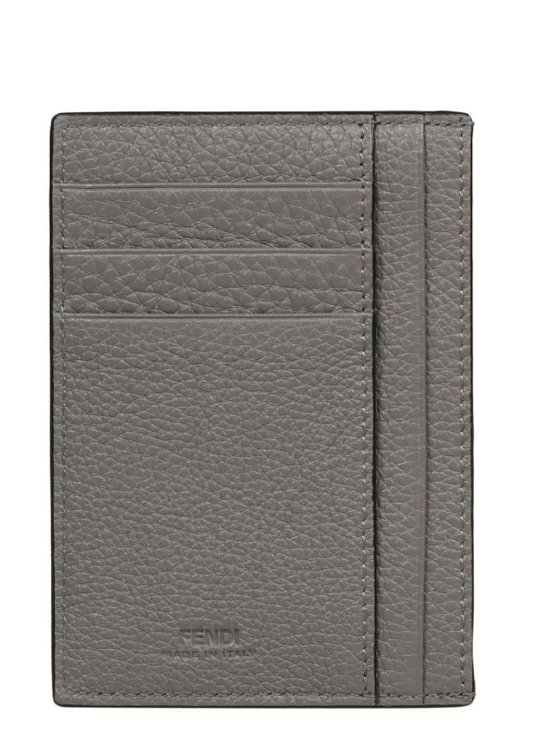 Fendi Ff Baguette Cardholder - Grey