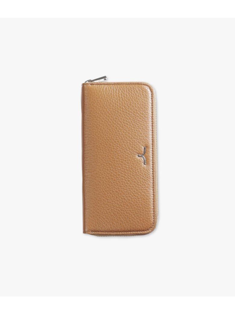 """Larusmiani Wallet """"black Swan"""" - light brown"""
