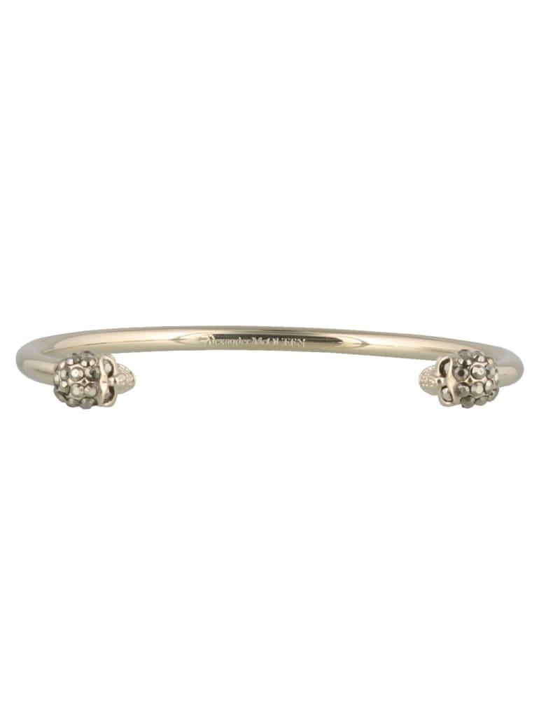 Alexander McQueen Skull Thin Bracelet - Gold