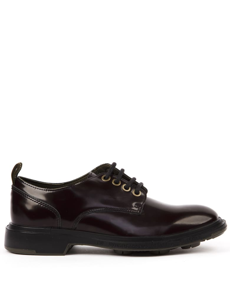 Pezzol 1951 Brushed Leather Derby Shoes - Aubergine