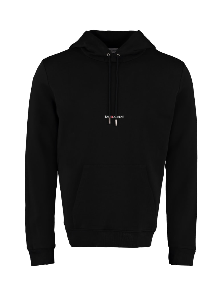 Saint Laurent Cotton Hoodie - Nero
