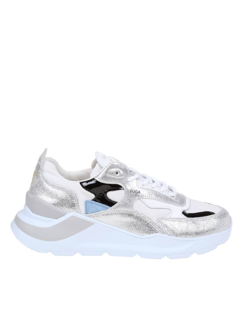 D.A.T.E. At Your Place. Fuga Sneakers In Leather And Fabric - White/Silver