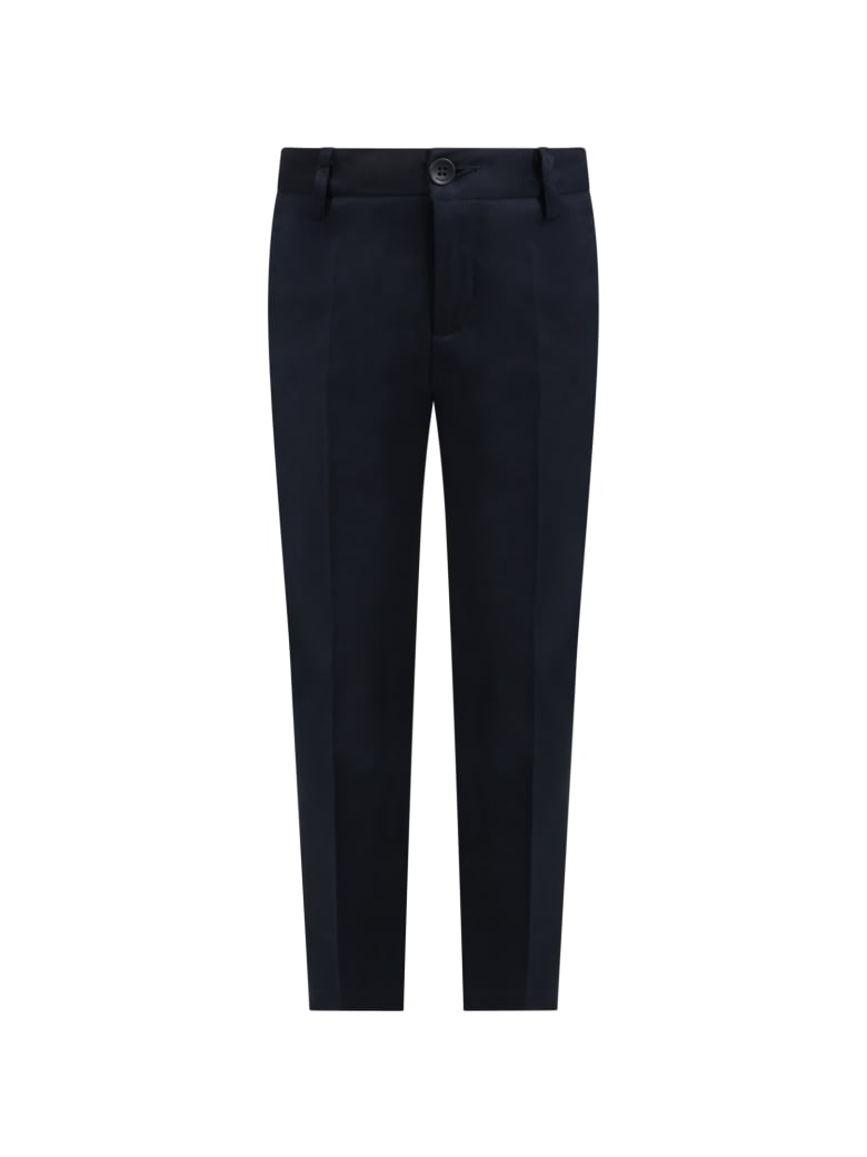 Dondup Blue Pants For Boy With Iconic D - Blue