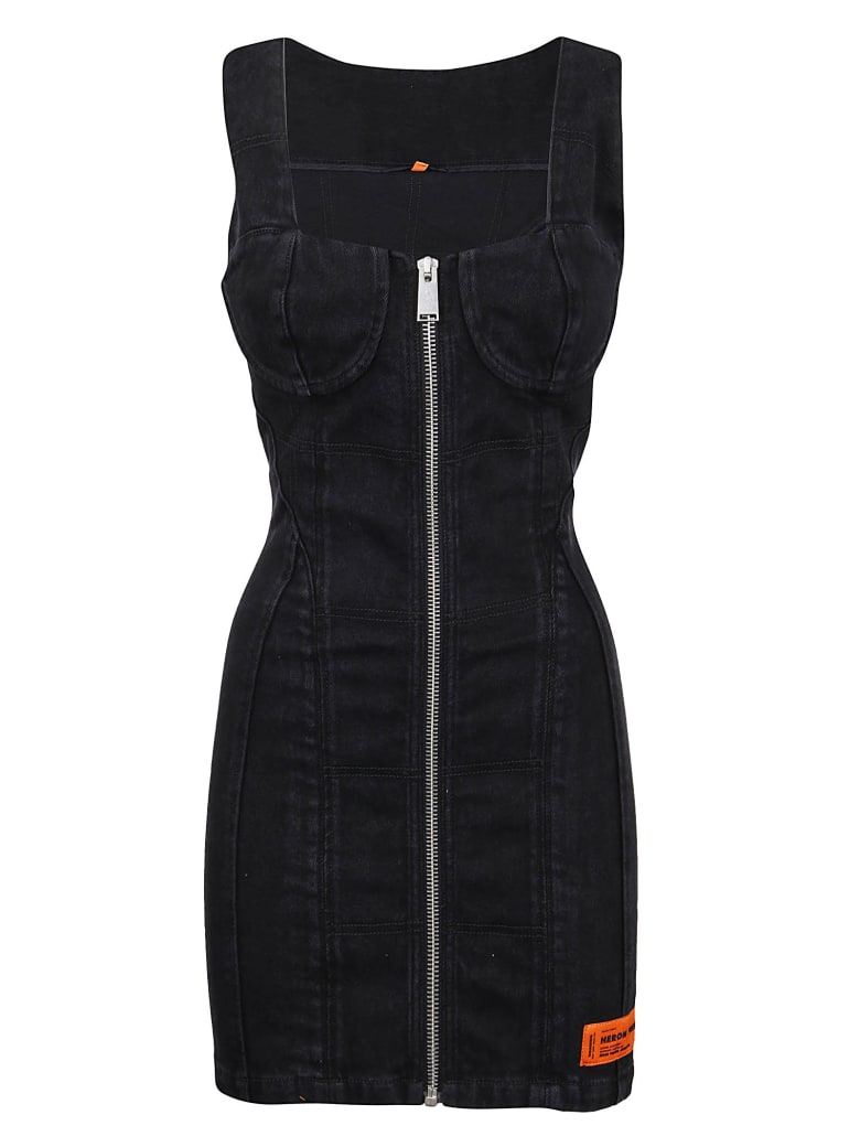 HERON PRESTON Abito Stretch Zipped - Vintage Black