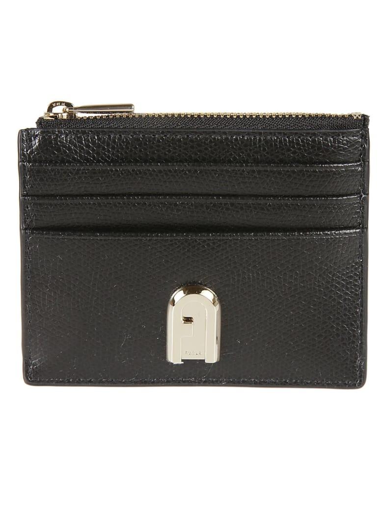 Furla 1927 Small Zip Card Holder - Black