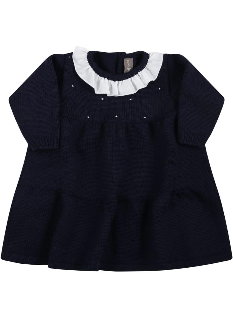 Little Bear Blue Dress For Baby Girl - Blue