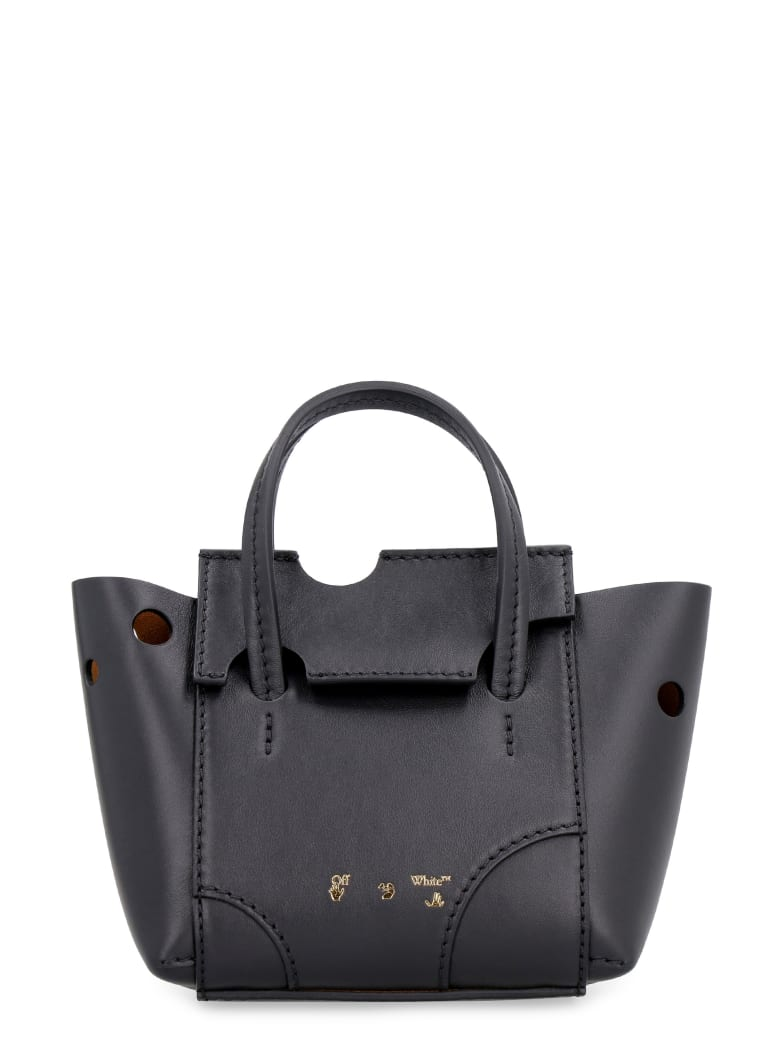 Off-White Burrow Perforated Leather Bag - black