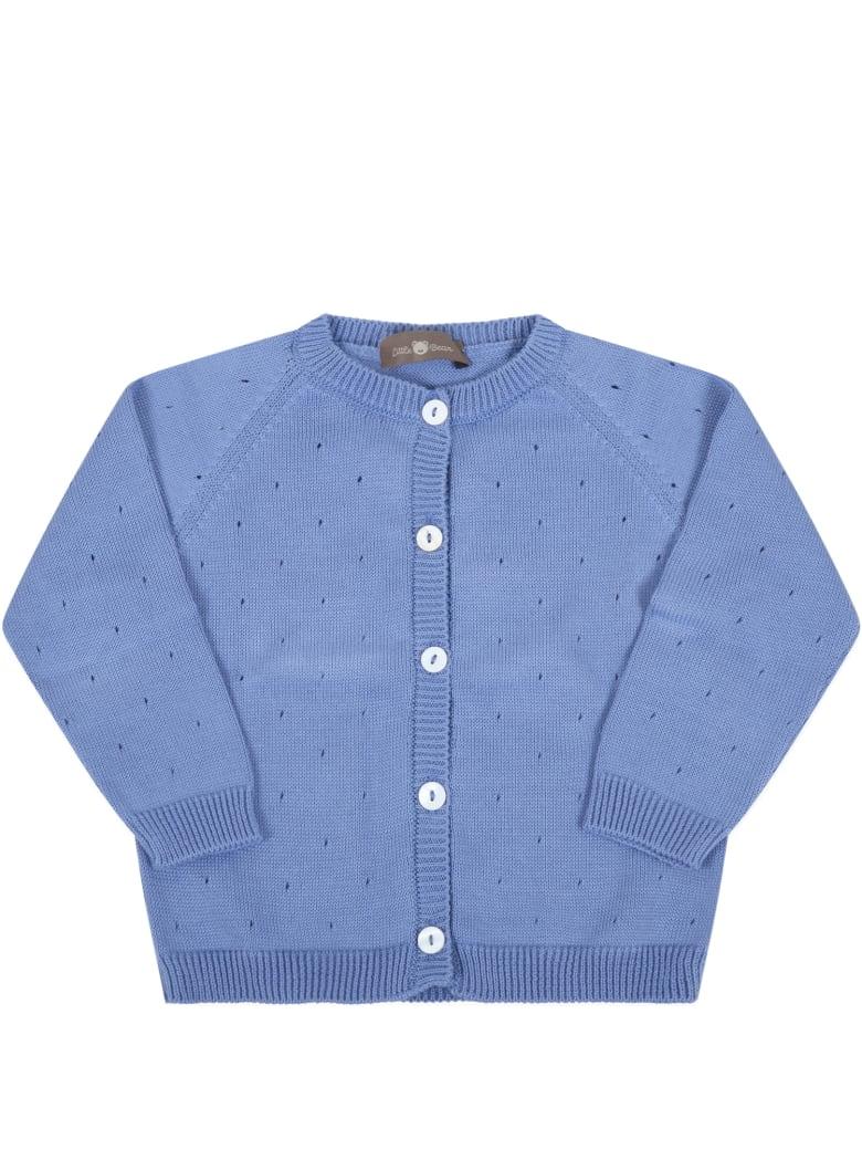 Little Bear Blue Cardigan For Baby Boy - Blue