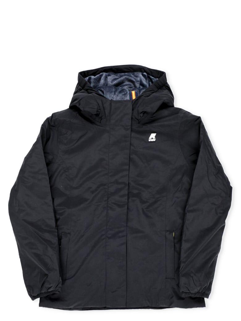 K-Way Lily Micro Ripstop Down Jacket - Black Pure - Blue De