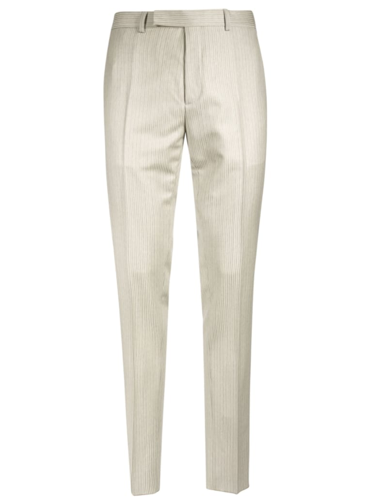 Christian Dior Long Length Fitted Trousers - White