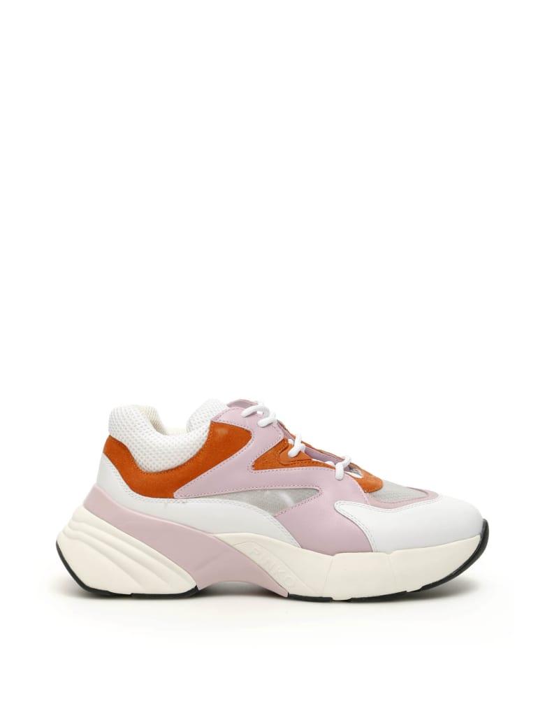 Pinko Maggiorana Sneakers - BIANCO ROSA ARANCIO (White)