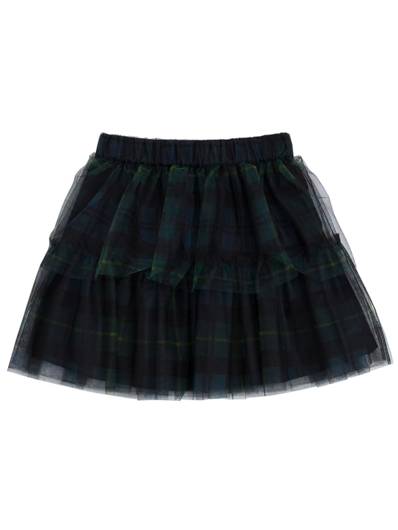 Philosophy di Lorenzo Serafini Kids Check Tulle Skirt With Flounces - Blu