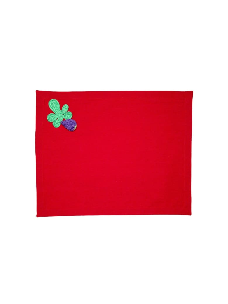 Le Botteghe su Gologone Placemats Crochet 35x45 Cm - Red
