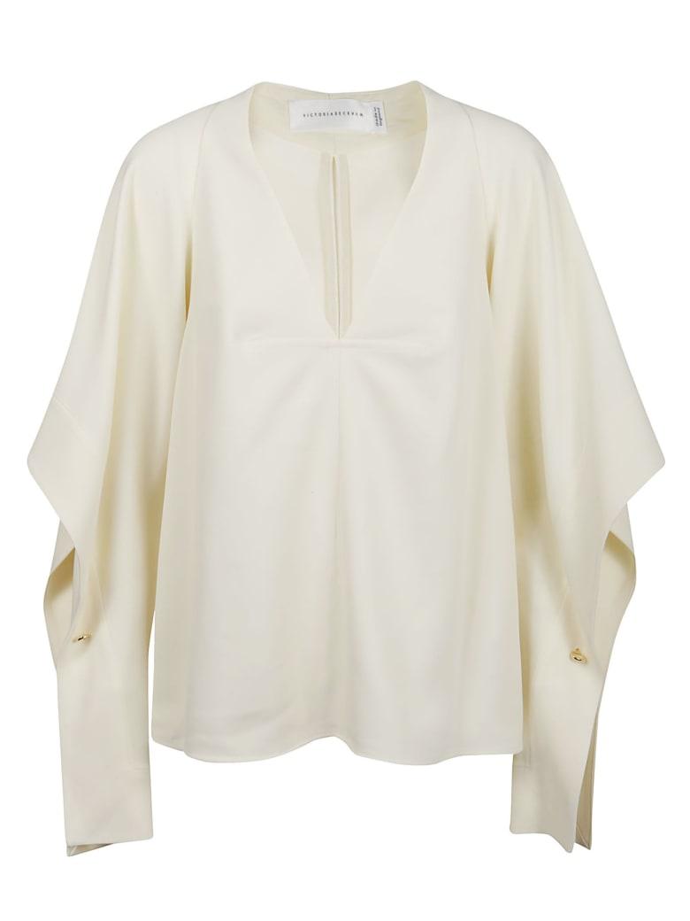 Victoria Beckham Top Drape Sleeve - Vanilla