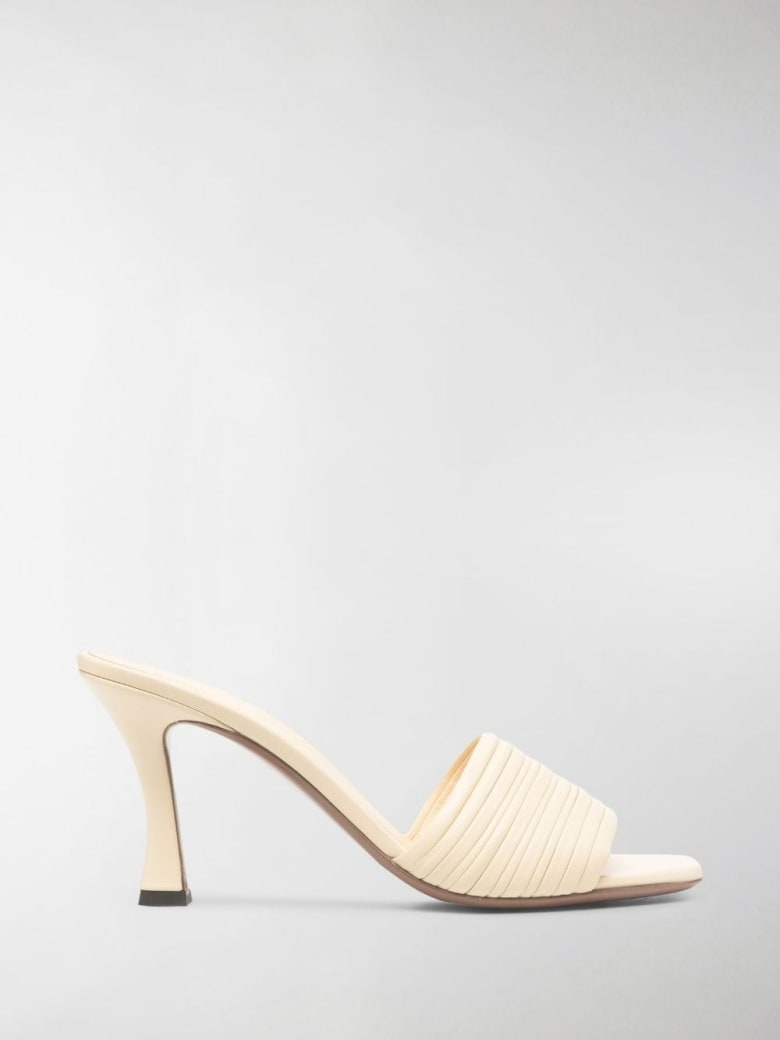 Neous Leather Sharm Mules - White