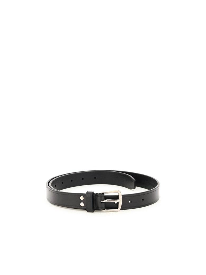 Ann Demeulemeester Bent Leather Belt - BLACK (Black)