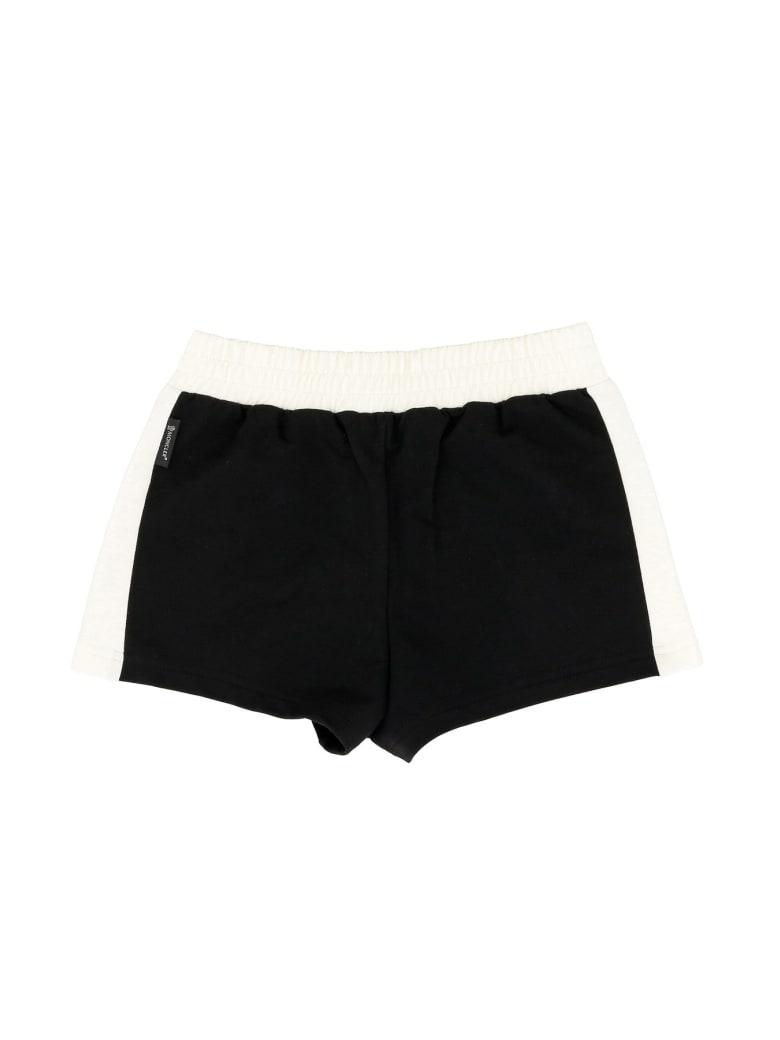 Moncler Shorts With Logo Print - Black