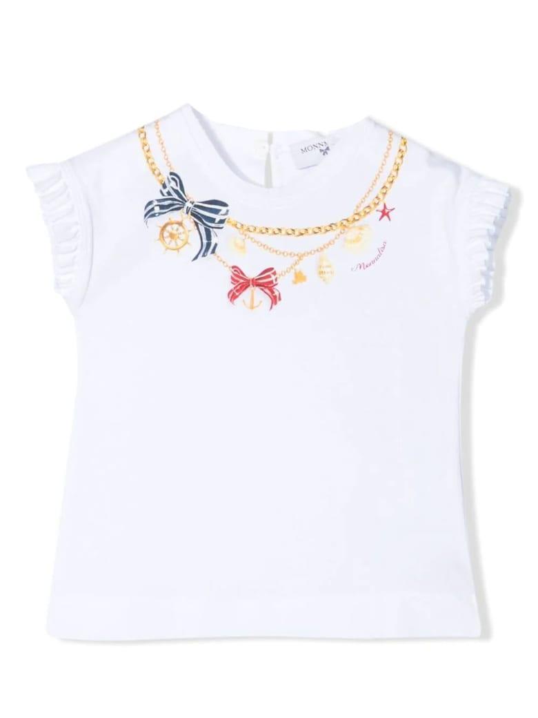 Monnalisa White Cotton T-shirt - Bianco
