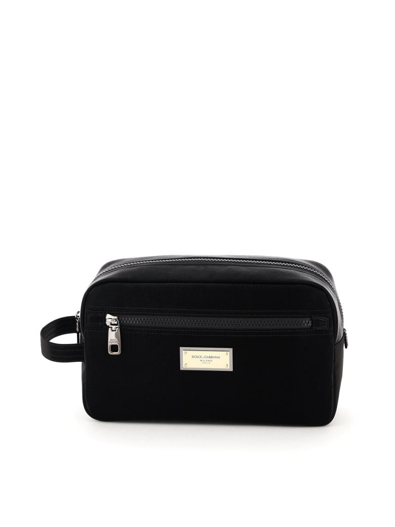 Dolce & Gabbana Nylon Samboil Cosmetic Case - Nero