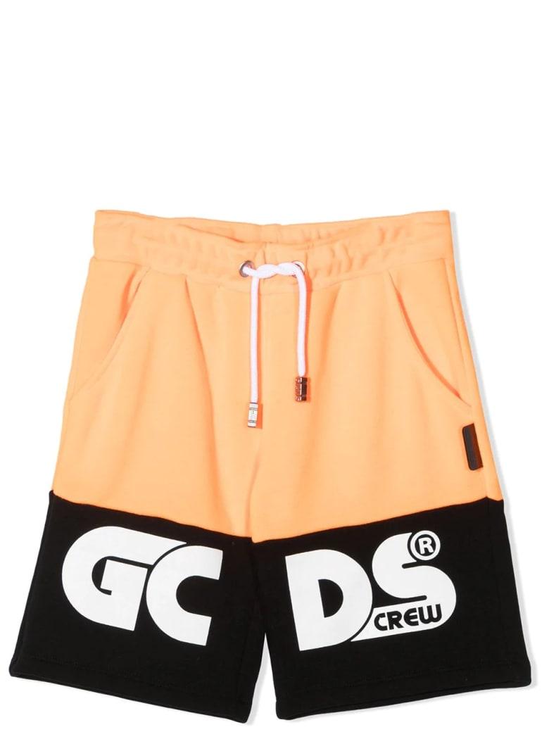 GCDS Mini Sports Bermuda With Print - Arancione