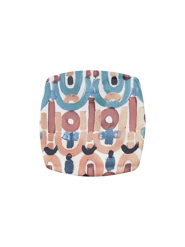 Le Botteghe su Gologone Plates Square Ceramic Colores 20,5x20,5 Cm - Red Fantasy