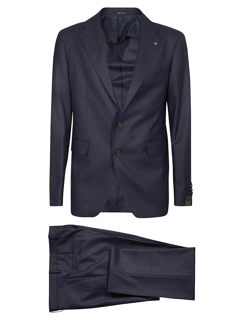 Tagliatore Regular Plain Suit - Blue