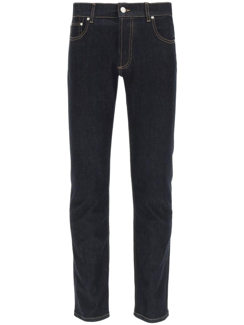 Alexander McQueen Graffiti Jeans - Blu