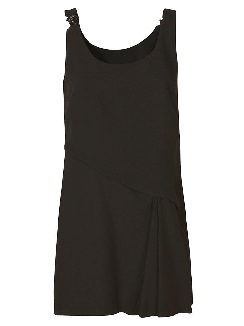 Versace Sleeveless Short Dress - Black