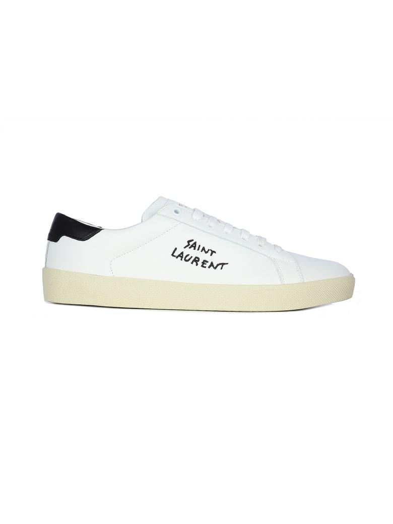 Saint Laurent Andy Sl06 Low Small Logo - Blanc Optique Black