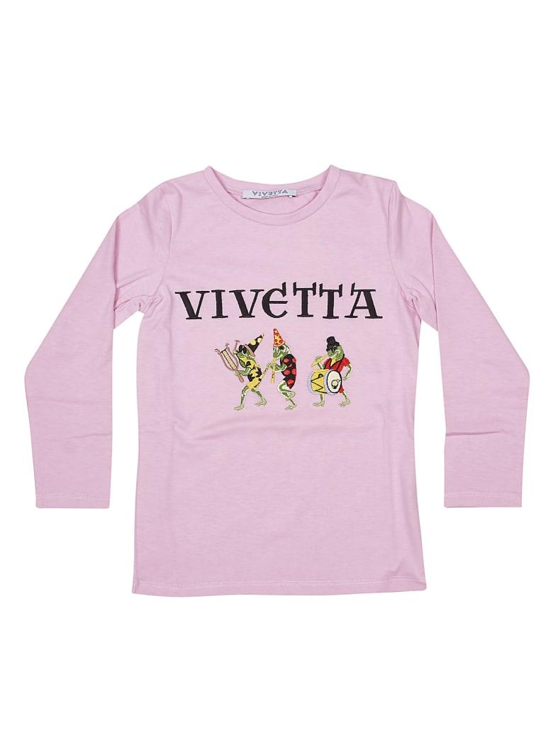 Vivetta Embroidered Logo Sweatshirt - Pink