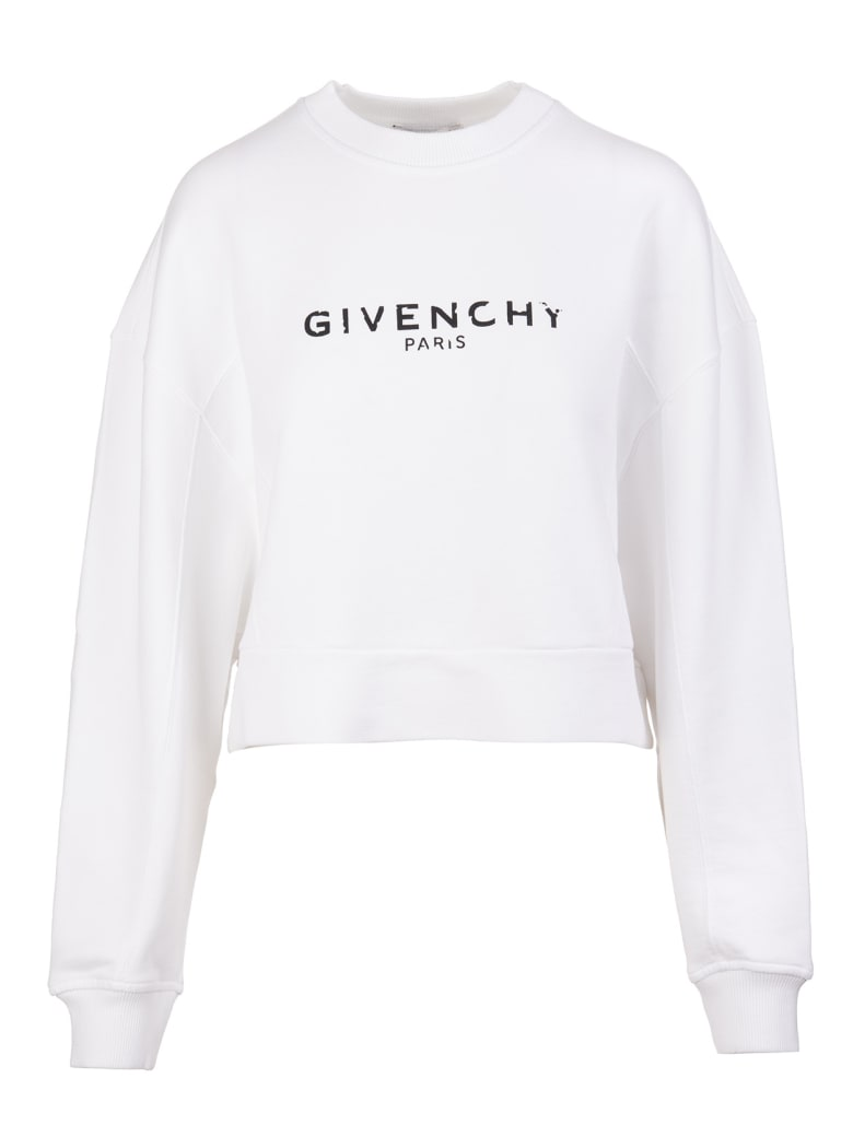 Givenchy Logo-print Cropped Sweatshirt