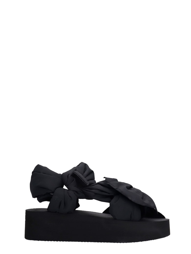 RED Valentino Flats In Black Synthetic Fibers - black