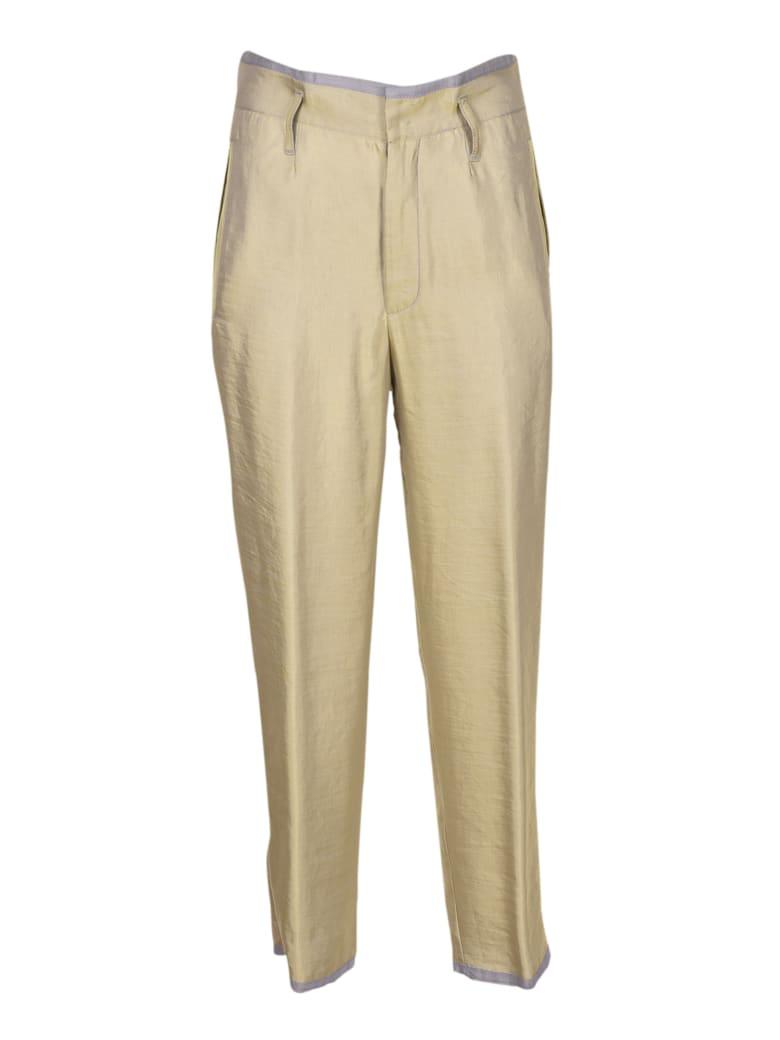 Forte_Forte Iridescent Linen Trousers - Verde Chiaro