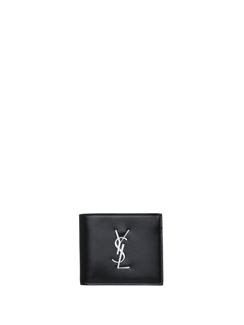Saint Laurent East/west Monogram Wallet - Nero