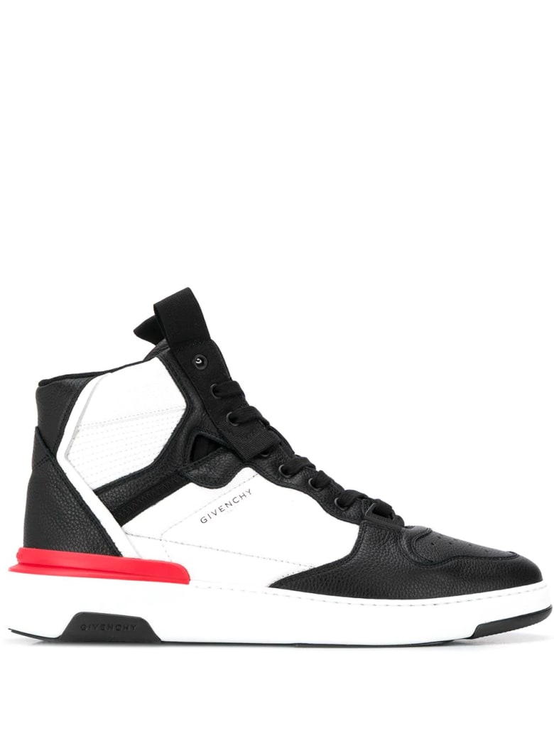 Givenchy Man Wing High Sneakers In Bicolor Leather